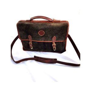 Roots Canada Crossover Briefcase Gray Vintage